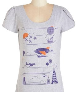 Modcloth T Shirt gray