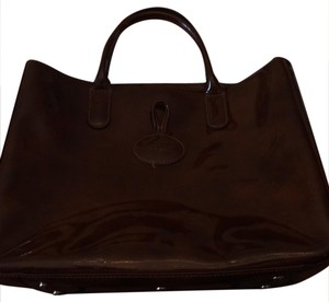 Longchamp Satchel in dark brown