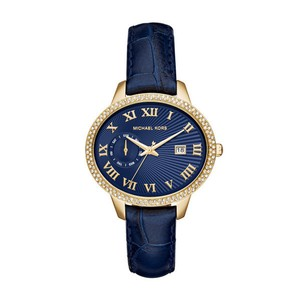 Michael Kors NWT WOMENS MICHAEL KORS (MK2429) WHITLEY CRYSTAL BLUE LEATHER WATCH