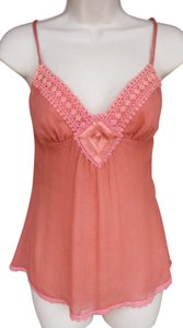 bebe Lace Sexy Silk Intimate Top Pink