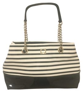 Kate Spade Goldchain Goldhardware Tote in Black and white