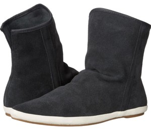 Sanuk Leather Suede Charcoal Boots