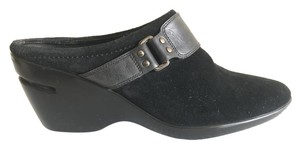 Cole Haan Nike Air Suede Buckle Black Mules