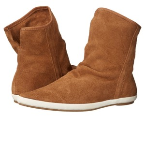 Sanuk Leather Suede Saddle Boots