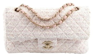Chanel Classic Double Flap Tweed Shoulder Bag