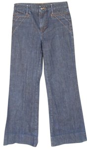 JOE'S Jett Dark Wash Zipper Trouser/Wide Leg Jeans-Dark Rinse