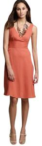 J.Crew short dress orange on Tradesy