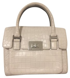 Michael Kors Crossbody Leather Satchel in White