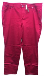 Talbots Heritage Ankle Casual Relaxed Pants Red