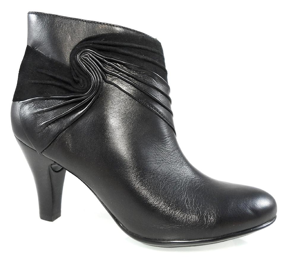 Eürosoft by 41 S?fft Black Ophelia Ankle Leather Dressy Heels 41 by Boots/Booties ec5330