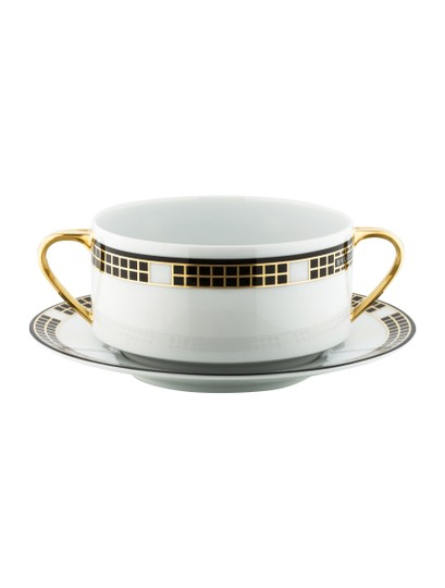 Preload https://img-static.tradesy.com/item/20708757/bvlgari-goldblack-rosenthal-quadri-cream-soup-cups-and-saucers-0-0-540-540.jpg