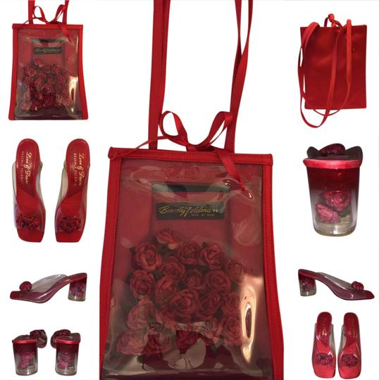 Preload https://img-static.tradesy.com/item/20708762/mules-red-satin-with-roses-encased-in-clear-vinyl-condition-shoulder-bag-0-1-540-540.jpg