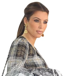 Chanel Chanel CC Coin Crystal Dangle Clip Earrings As Seen on Kim Kardashian