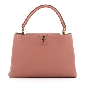 Louis Vuitton Capucines Leather Satchel