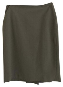 Anne Klein Pencil Formal Polyester Skirt Light Army green