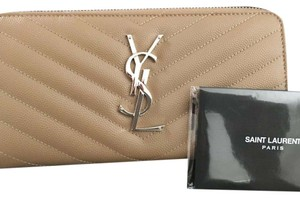 Saint Laurent Saint Laurent monogram zip around wallet