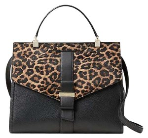 Kate Spade Satchel in Black/Leopard