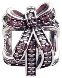 PANDORA Pandora All Wrapped Up Sterling Silver Present Bead Charm 791766CZ