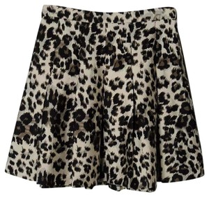 Diane von Furstenberg Skirt Black, Brown and Cream
