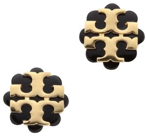 Tory Burch Tory Burch Logo Flower Resing Stud Earrings