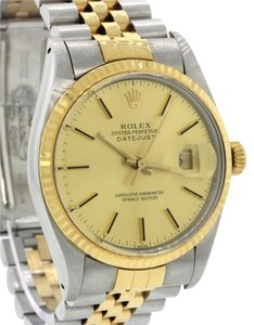 Rolex Rolex DateJust 36mm 16013 Two Tone 18k Gold Steel Jubilee Date Watch