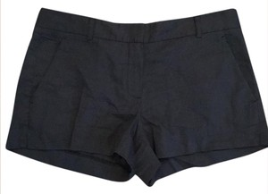 Theory Linen Blue Dress Shorts navy