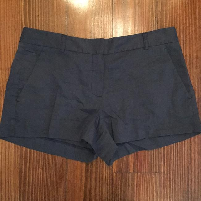 Theory Linen Blue Dress Shorts navy Image 1