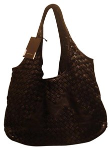 Bruno Magli Woven Leather Designer Hobo Shoulder Bag