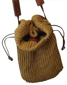 Made in Italy straw and leather Unisex. Hobo Bag