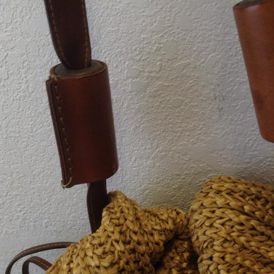 Made in Italy straw and leather Unisex. Hobo Bag Image 1