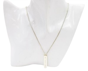 Tiffany & Co. Tiffany & Co. Bar Pendant and Snake Chain Necklace