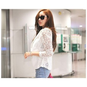 Other Lace Fitted Suit Blazer White Jacket