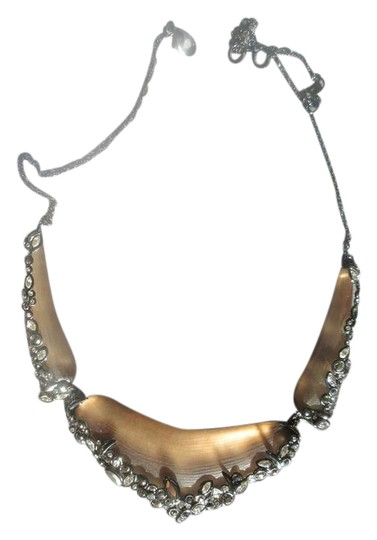 Alexis Bittar Alexis Bittar Lucite Crystal Lace Bib Necklace Image 2