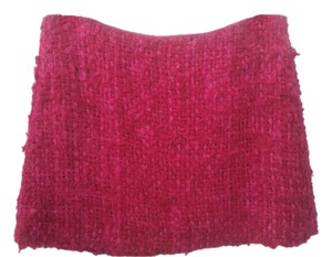 Kelly Wearstler Textured Silk Mini Skirt Hot Pink