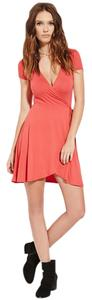 Forever 21 short dress Red Micro-mini Skater Skirt Basic on Tradesy