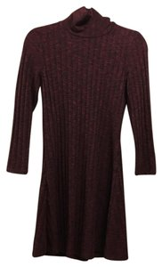 American Eagle Outfitters short dress Burgundy on Tradesy