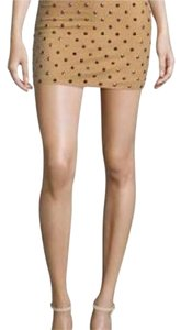 Alice + Olivia Mini Skirt Tan