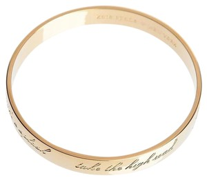 Kate Spade gold plated be mine , valentine engraved bangle
