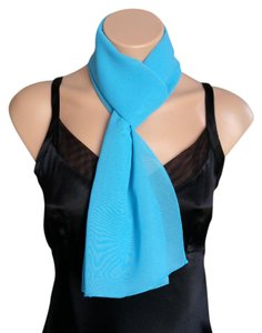 Other Turquoise Chiffon Scarf