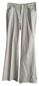 Womyn Trousers Off-white Straight Pants Cream