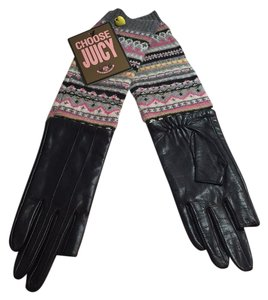 Juicy Couture JUICY COUTURE Text Me Leather Gloves NEW
