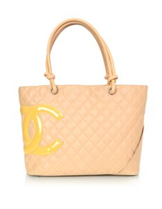 Chanel Cambon Quilted Tote in Beige