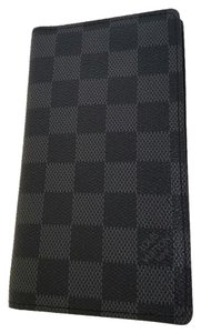 Louis Vuitton Damier Graphite Checkbook Cover Address Cover NEW