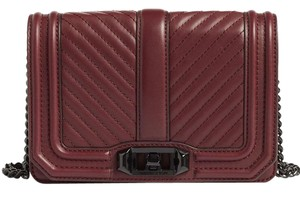 Rebecca Minkoff Hh16mlvx45 Maroon Dark Red Quilted Leather Cross Body Bag