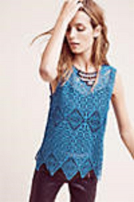 Anthropologie Top Teal / Blue Image 1