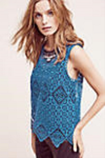 Anthropologie Top Teal / Blue Image 4