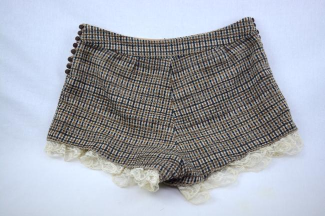 Willow & Clay Office Business Tweed Lace Dress Shorts Brown Image 1