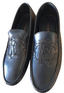 Roberto Cavalli Mens Loafers Brand New Italian Leather Navy blue Flats