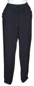 Candie's Pockets Knit Elastic Waist Rayon Comfortable Athletic Pants Black