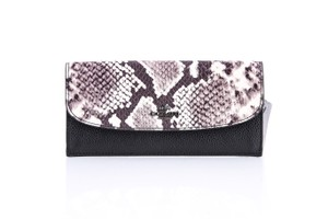 Coach * Coach Soft Wallet With Snake Embossed Leather Trim